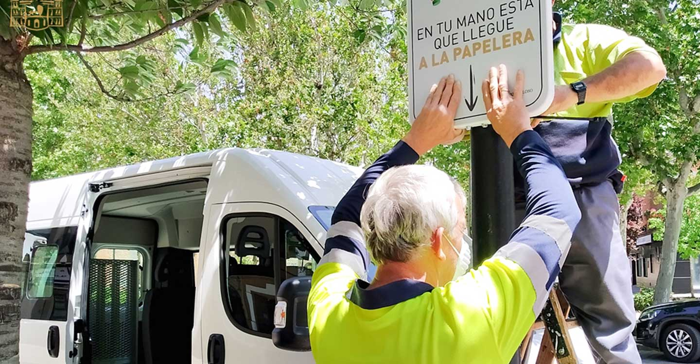 """La campaña """"Tomelloso Limpio"""" incluye este año la instalación de 20 señales de sensibilización"""