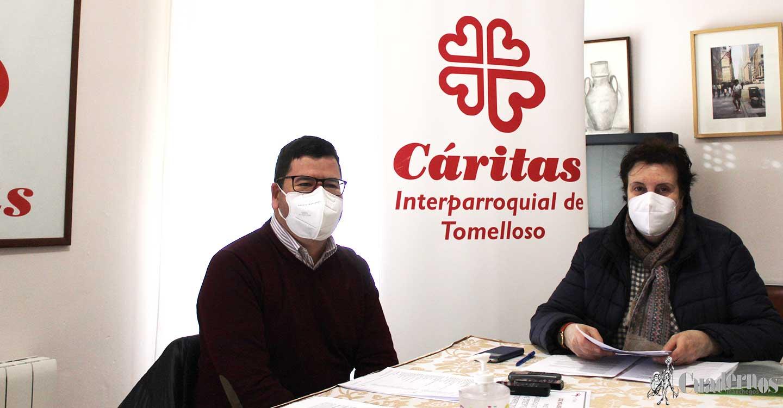 Cáritas Tomelloso ha incrementado las ayudas directas en el año 2020 en un 85% con respecto al 2019