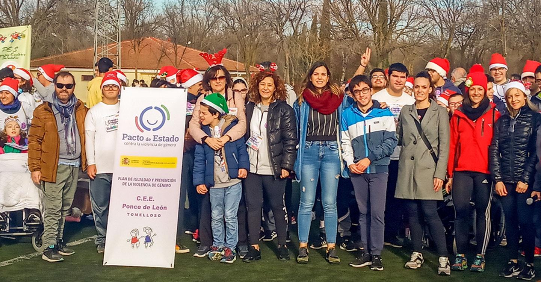 Laura Gallego y Nazaret Rodrigo participan en la I Carrera Inclusiva Plan de Igualdad Intercentros de Tomelloso