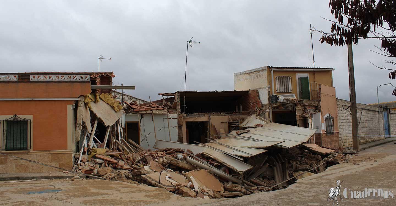 Derrumbaniento de viviendas en Tomelloso