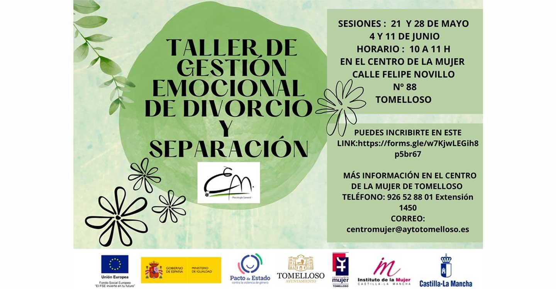 El Centro de la Mujer de Tomelloso programa un taller de Gestión Emocional de Divorcio y Separación