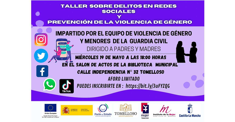 El Centro de la Mujer de Tomelloso programa un taller sobre delitos en redes sociales y prevención de la violencia de género