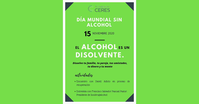 Fundacion Ceres de Tomelloso llevará a cabo una campaña de sensibilización este domingo día 15 con motivo del Día Mundial sin alcohol