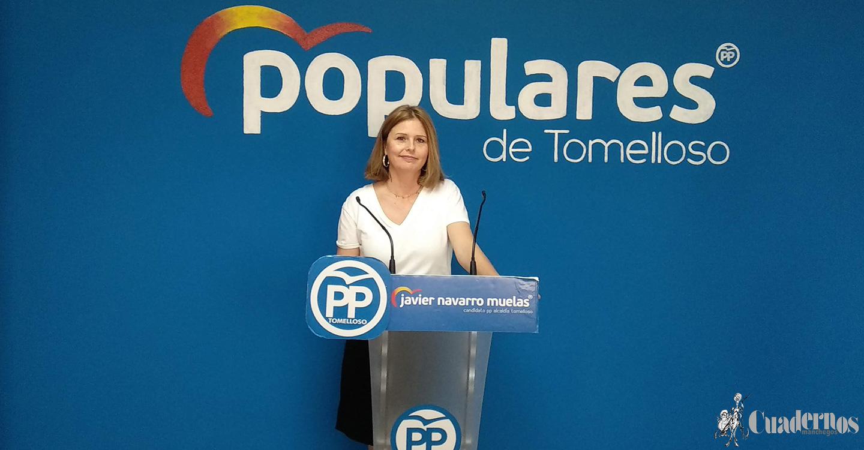 La Diputada Provincial del Partido Popular, Cortes Valentín, acusó de cobardía al Presidente García-Page por no haber visitado Tomelloso