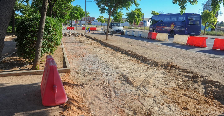 Comienza la reforma de un nuevo tramo de la avenida Juan Carlos I
