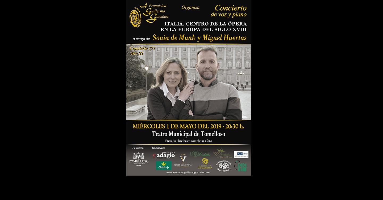 Concierto de voz y piano: Italia, centro de la Ópera en la Europa del Siglo XVIII