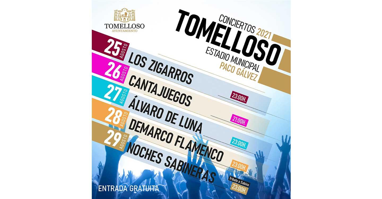 Conciertos de la Feria y Fiestas de Tomelloso 2021