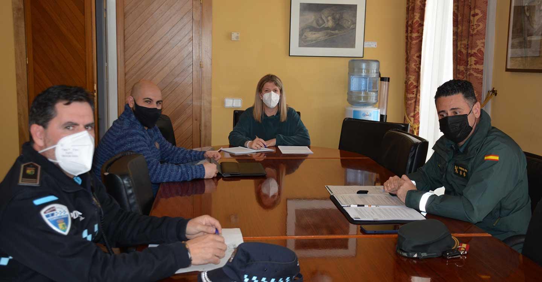 La alcaldesa de Tomelloso se reúne con Guardia Civil y Policía Local para coordinar los dispositivos de control de las nuevas medidas reforzadas nivel 3