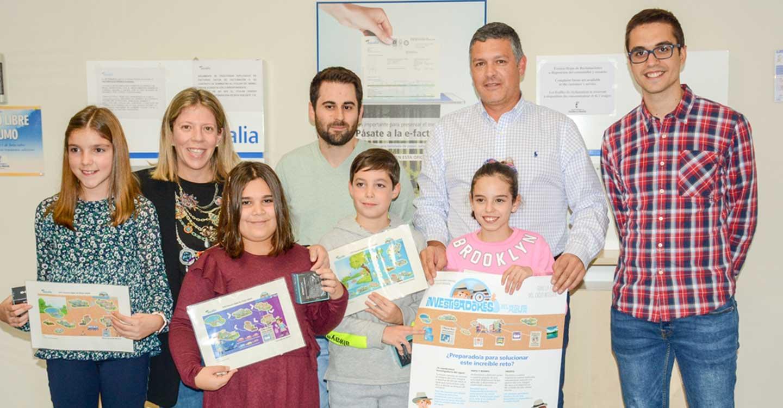 Cuatro escolares de Tomelloso premiados por seguir la pista del agua