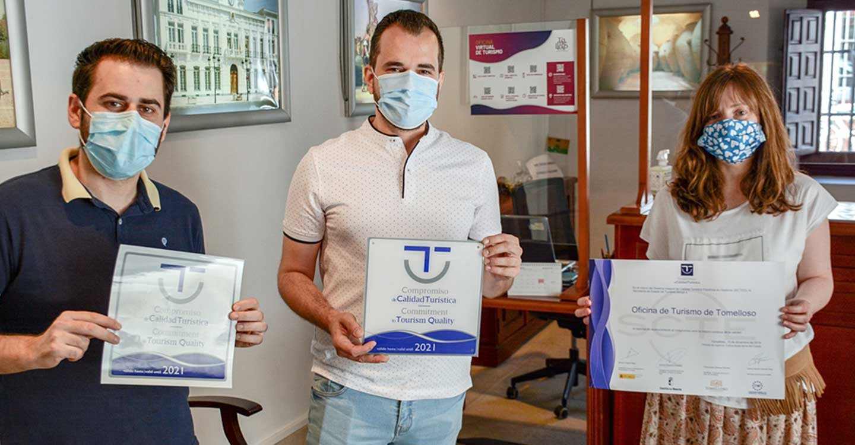 Cuatro establecimientos de Tomelloso reciben sus distintivos SICTED que reconoce su calidad turística