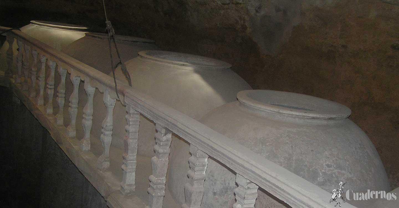 Cuevas que elaboraban vino por periodos de tiempo