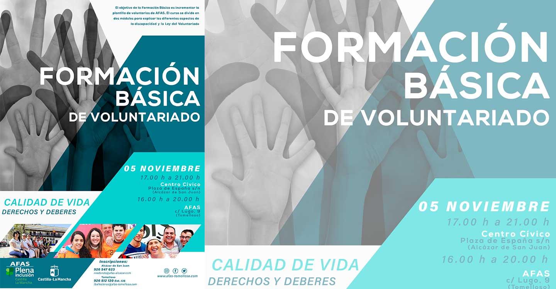 AFAS impartirá un Curso de Formación Básica de Voluntariado en Personas con Discapacidad.