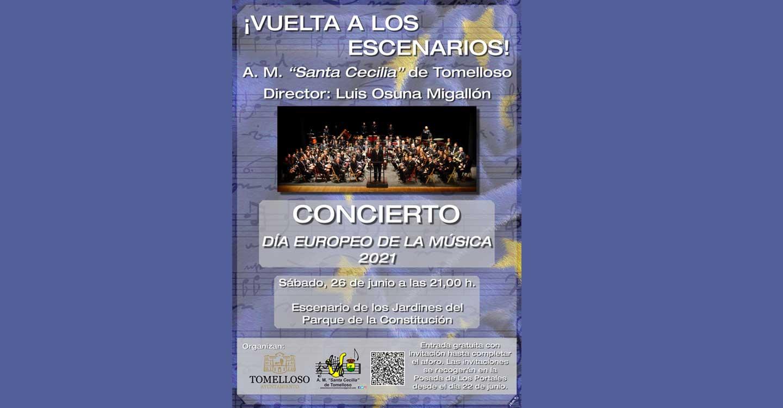 """La Asociación Musical Santa Cecilia dará un concierto para celebrar el """"Día Europeo de la Música"""" 2021"""""""