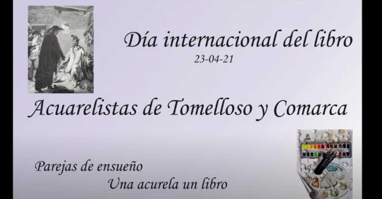 La Asociación de acuarelistas de Tomelloso y Comarca rinde homenaje a los libros con un vídeo