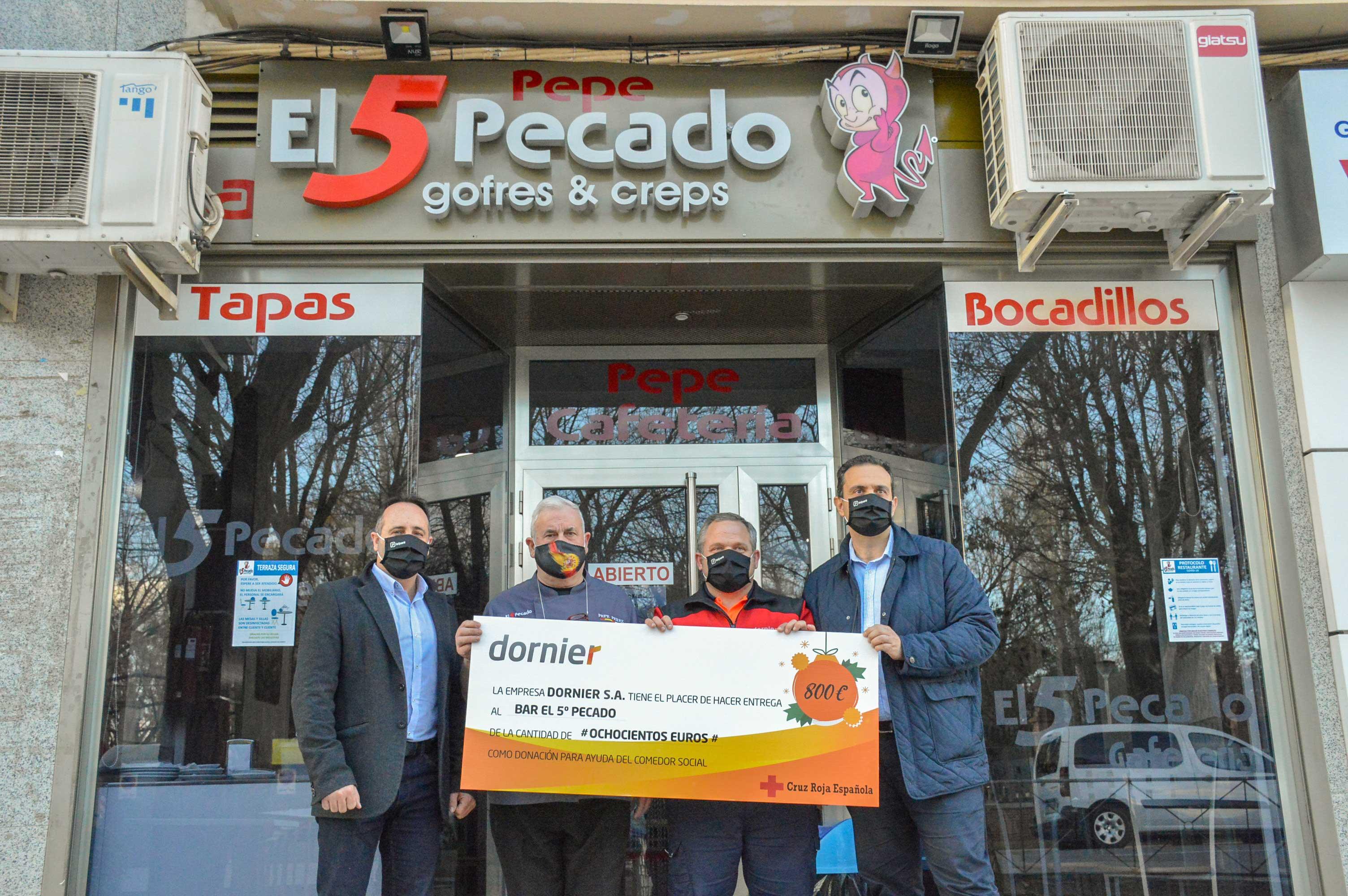 Dornier sigue la estela solidaria de su empleado José Ángel Perona