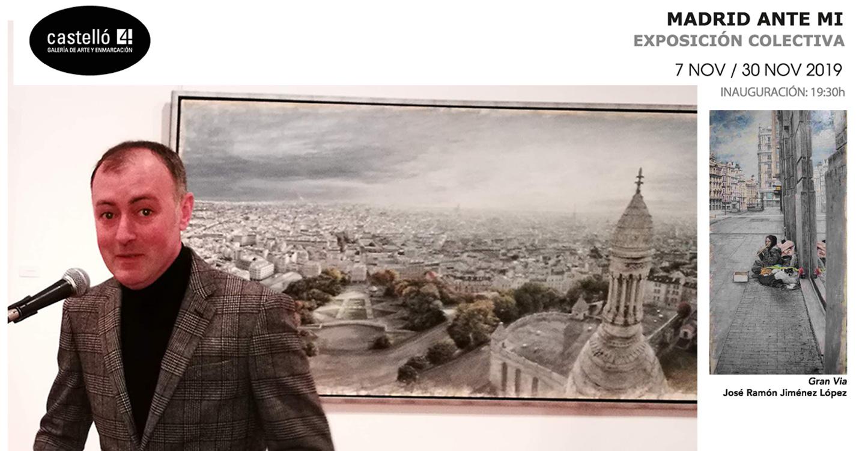 El pintor de Tomelloso José Ramón Jiménez López muestra su pintura realista en la exposición colectiva