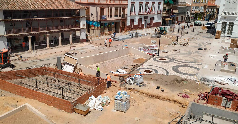 El PP de Tomelloso critica la nefasta planificación en la ejecución de las obras de la Plaza de España