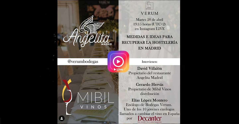 """Elías López Montero participará en el diálogo sobre : """"Medidas e Ideas para recuperar la hostelería en Madrid"""" que será retransmitida en Instagram Live"""