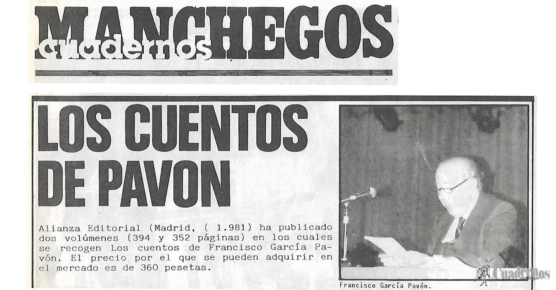 En recuerdo a Francisco García Pavón