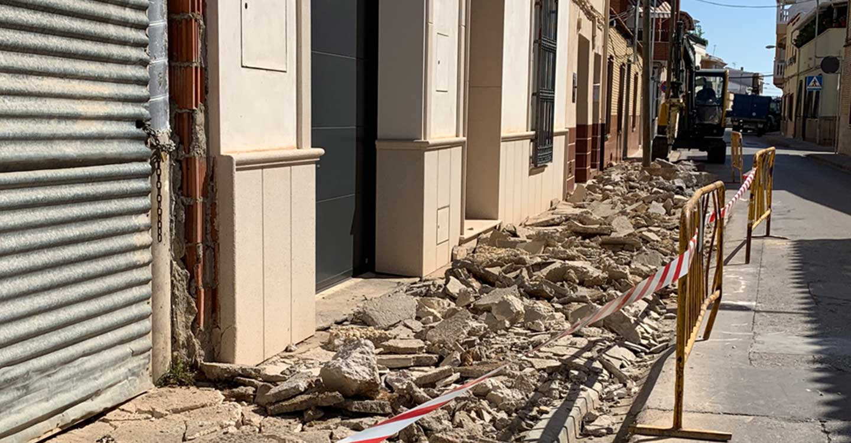 En marcha obras de renovación de acerados y eliminación de barreras arquitectónicas en la localidad de Tomelloso
