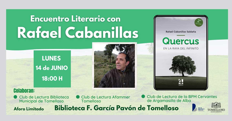Encuentro Literario en Tomelloso con el escritor Rafael Cabanillas