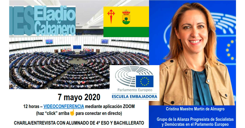 El IES Eladio Cabañero llevará a cabo una charla con la eurodiputada Cristina Maestre.