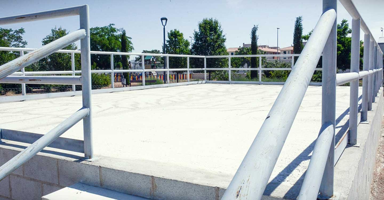El parque Virgen de las Viñas de Tomelloso ya cuenta con un escenario para la realización de actividades