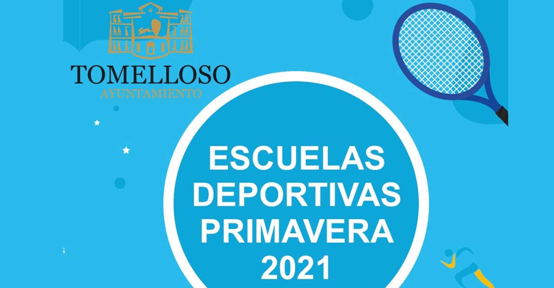 Abierta preinscripción en Tomelloso para Escuelas Deportivas Primavera 2021 del 24 de marzo al 5 de abril