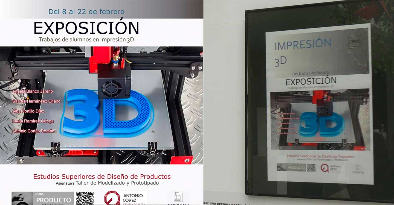 La EASDAL de Tomelloso y su Exposición Impresión 3D