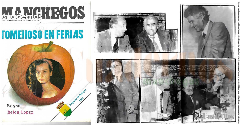 Recordando la Feria y Fiestas de Tomelloso de 1982 con el homenaje a Félix Grande y Eladio Cabañero