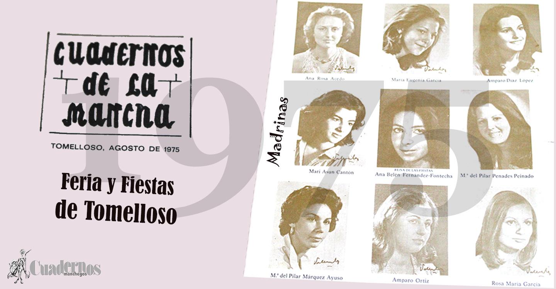 1975 : Cultura y Deporte copaban La Feria y Fiestas de Tomelloso