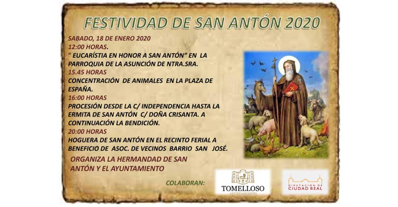 Actividades de la Festividad de San Antón en Tomelloso