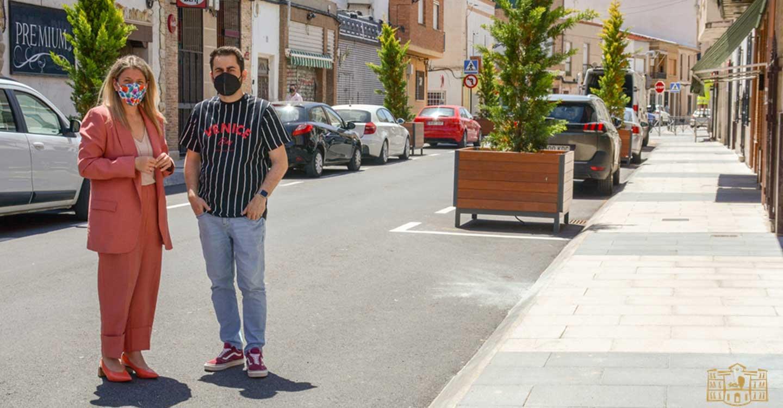 Finalizan las obras de remodelación integral de las calles Monte y Montesa de la localidad de Tomelloso