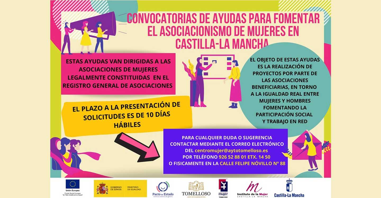 El Centro de la Mujer de Tomelloso informa sobre la convocatoria de ayudas para fomentar el asociacionismo