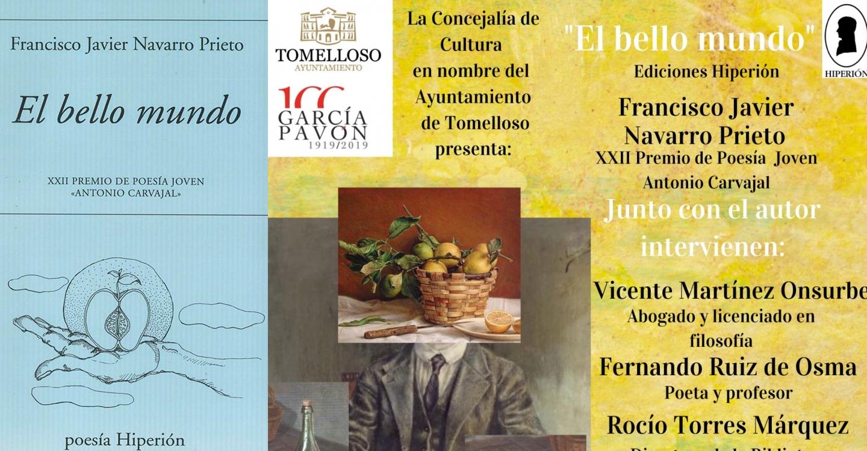 Francisco Javier Navarro Prieto, escritor de Tomelloso, presenta´su nueva obra titulada