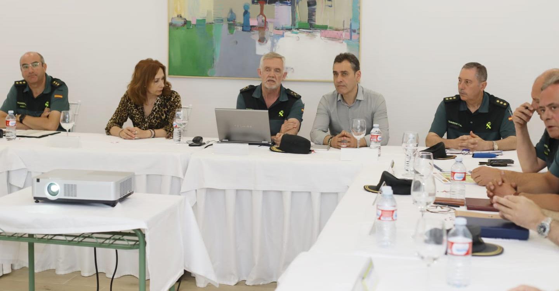 Francisco Tierraseca preside la Junta de Coordinación de Zona de Guardia Civil en Tomelloso (Ciudad Real)