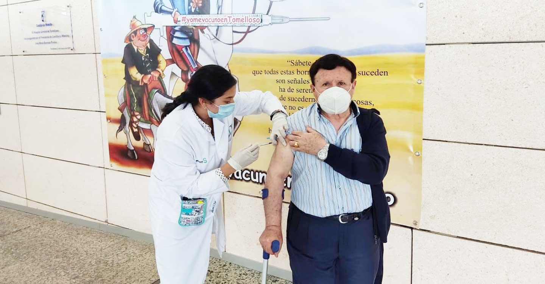 El Hospital de Tomelloso sigue con el proceso de vacunación para personas con edades comprendidas entre 80 y 85 años