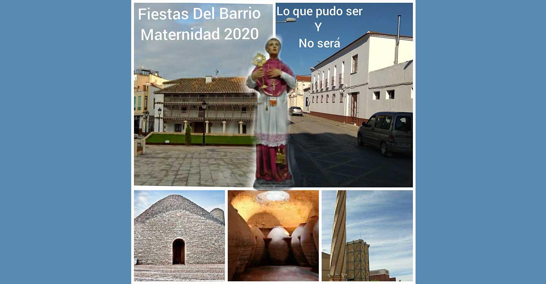 Hoy no podremos celebrar la Fiesta del Barrio de Maternidad de Tomelloso