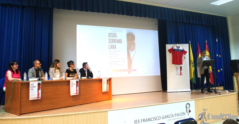 Acto de inauguración del Curso 2019/2020 en el I.E.S. Francisco García Pavón, en el que se presenta un nuevo equipo directivo, con la presencia del tirador olímpico tomellosero Jesús Serrano Lara