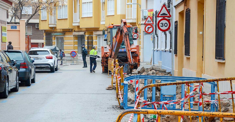Iniciadas las obras de mejora de accesibilidad en la calle Reverendo Padre Pedro del municipìo de Tomelloso