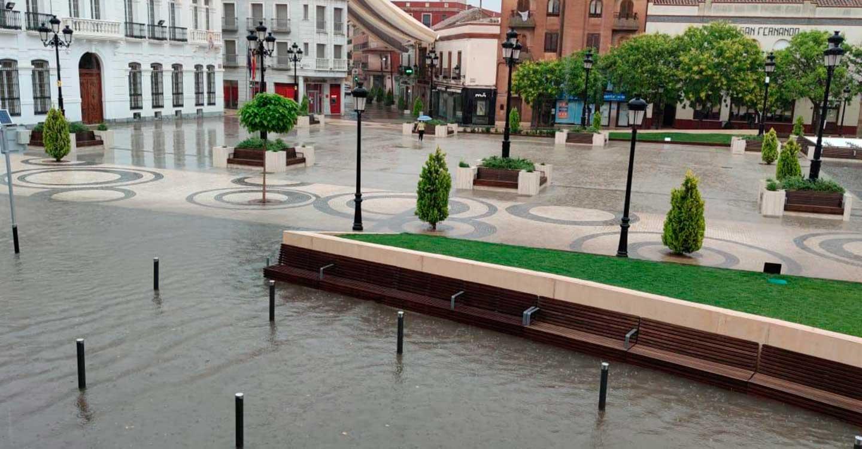 """Desde IU Tomelloso denuncian """"la situación caótica vivida en nuestra ciudad debido a las fuertes lluvias del sábado pasado""""."""
