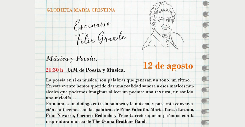 ¡Música y Poesía se dan de la mano en el escenario Félix Grande!