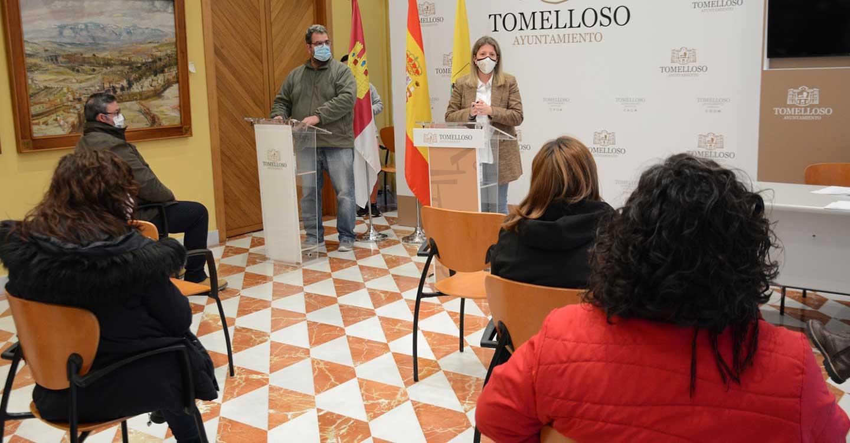 Jiménez cumple su compromiso de apoyar a las AMPA's en la adopción de medidas en centros educativos de Tomelloso frente a la COVID-19