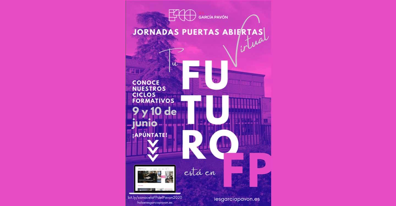 El IES Francisco García Pavón de Tomelloso celebrará unas Jornadas de Puertas Virtuales el 9 y 10 de junio