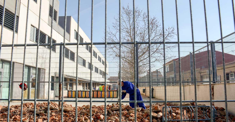 En ejecución la ampliación del patio infantil del colegio José Mª del Moral de la localidad de Tomelloso