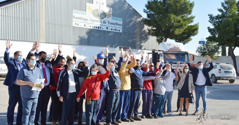 """Jóvenes del Centro Ocupacional AFAS Tomelloso participan en el """"Desayuno Saludable"""" de Cooperativas Agroalimentarias"""