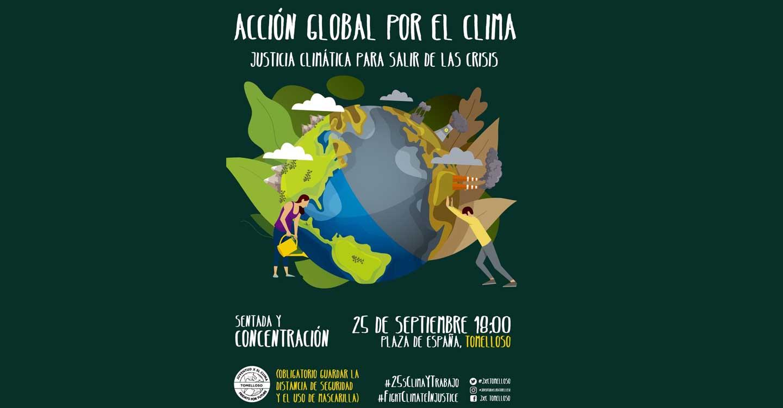 Juventud por el Clima inicia el curso con una concentración en Tomelloso por la defensa de la justicia social