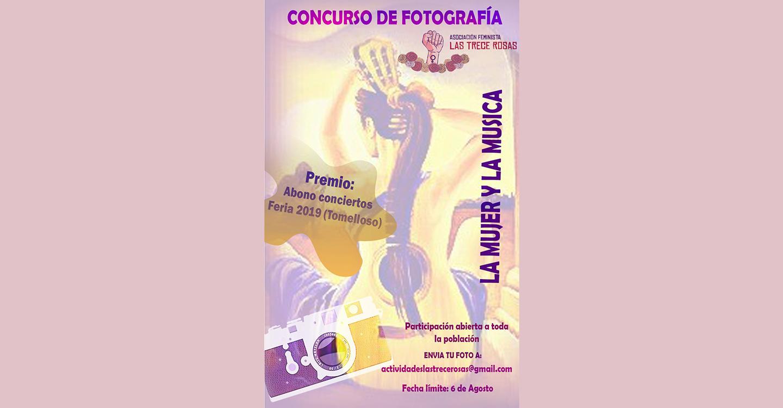 """La Asociación Feminista las Trece Rosas convoca el concurso de fotografía """"La Mujer y la Música"""""""