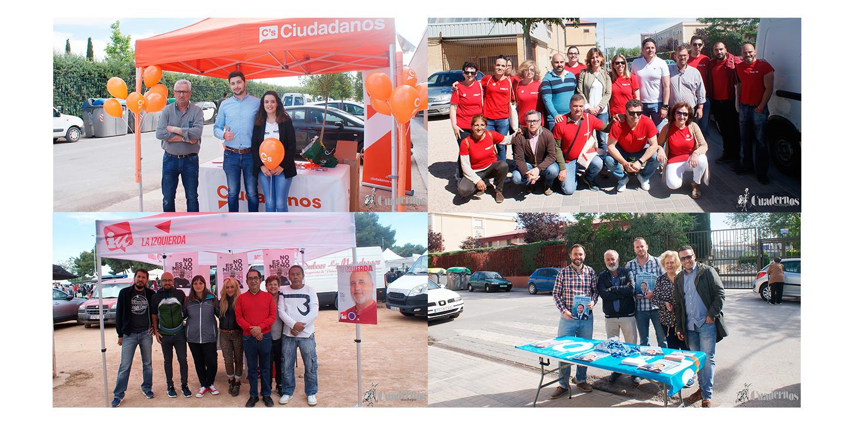 Los Partidos Políticos hacen campaña en el tradicional mercadillo de Tomelloso