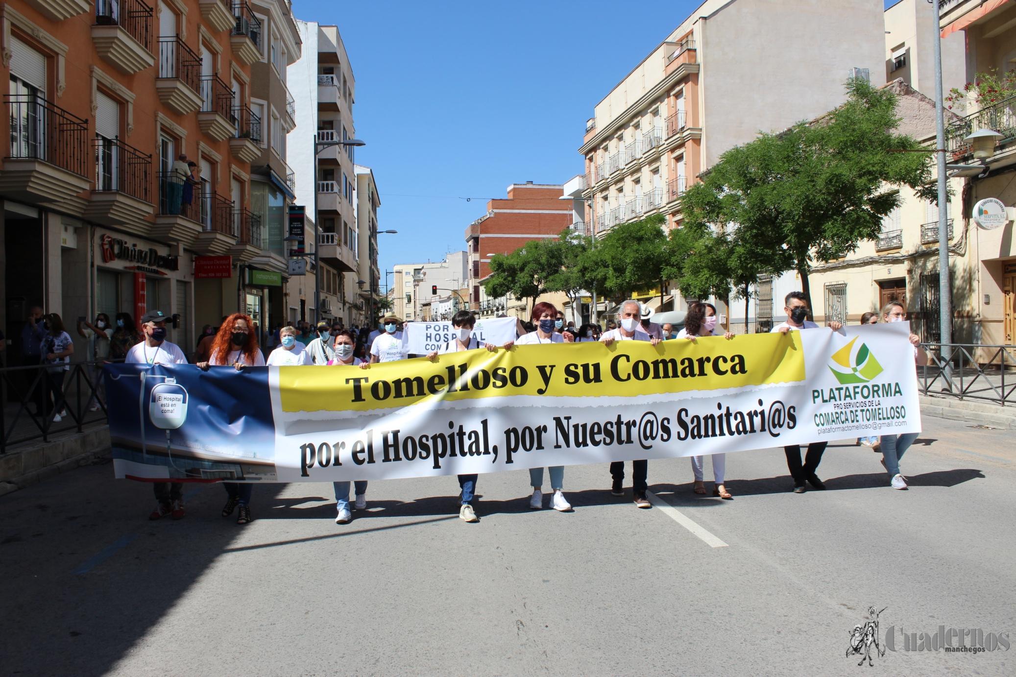 Tomelloso sale a la calle para defender el Hospital, a sus sanitarios y a una sanidad digna para su comarca